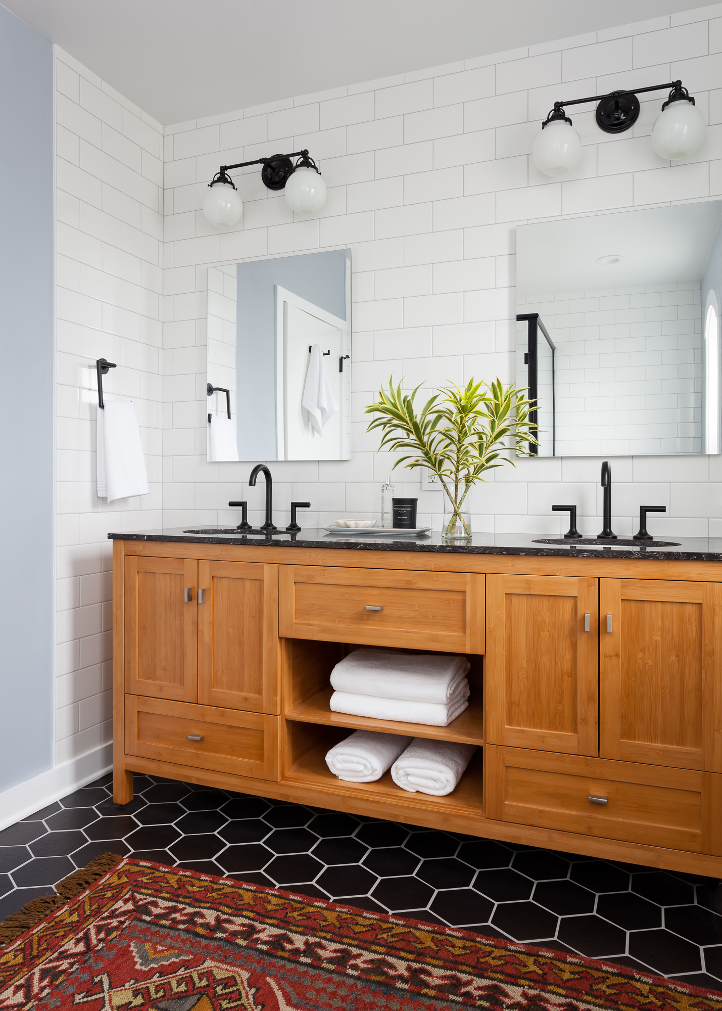 Black + White Master Bathroom Design | I Heart Interior Design